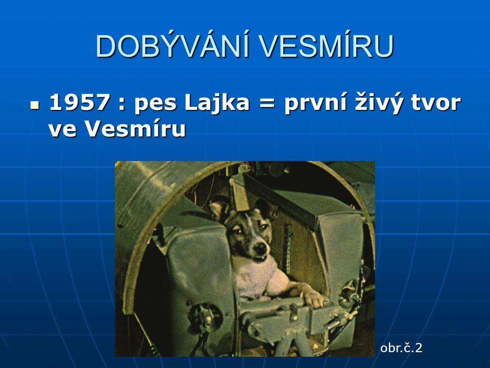 DOBÝVÁNÍ VESMÍRU 1957 : pes Lajka = první živý tvor ve Vesmíru 1957 : pes Lajka = první živý tvor ve Vesmíru obr.č.2