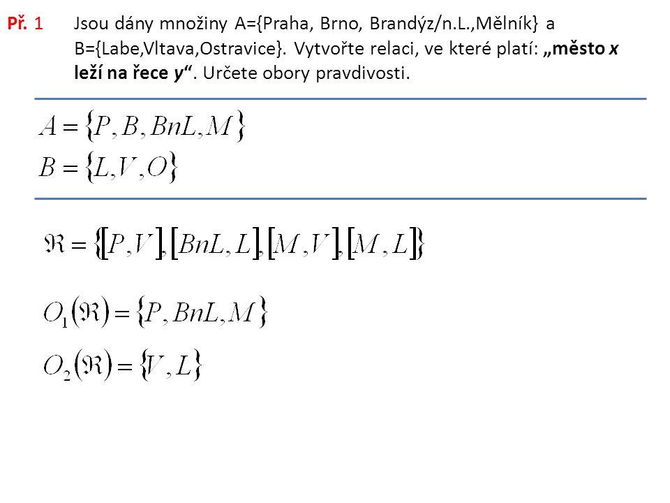 Př.2Jsou dány množiny A={1, 2, 3, 4, 5, 6, 7, 8}.