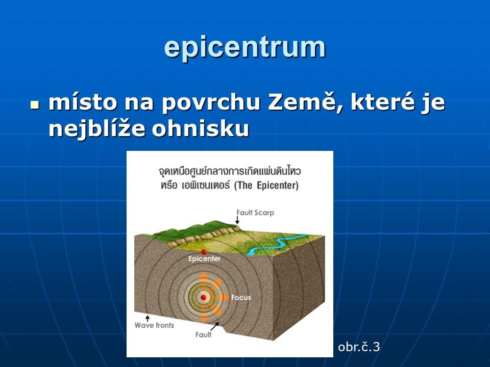 Kde se na Zemi nachází hlavní zemětřesná pásma? obr.č.4