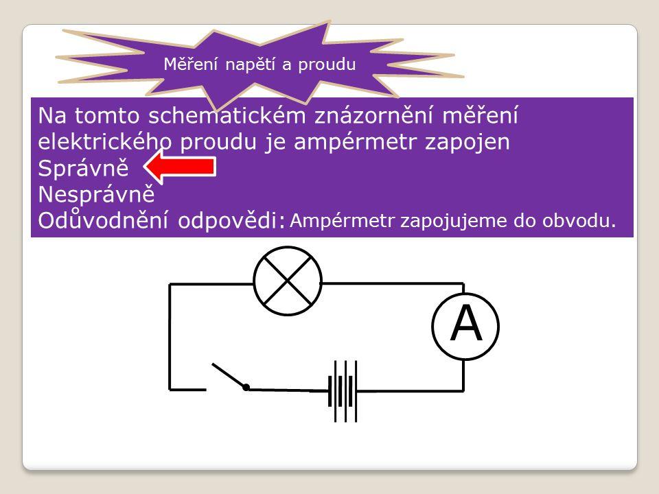 A Měření elektrického proudu.
