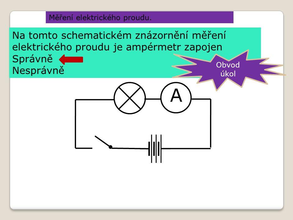 Měření elektrického proudu.