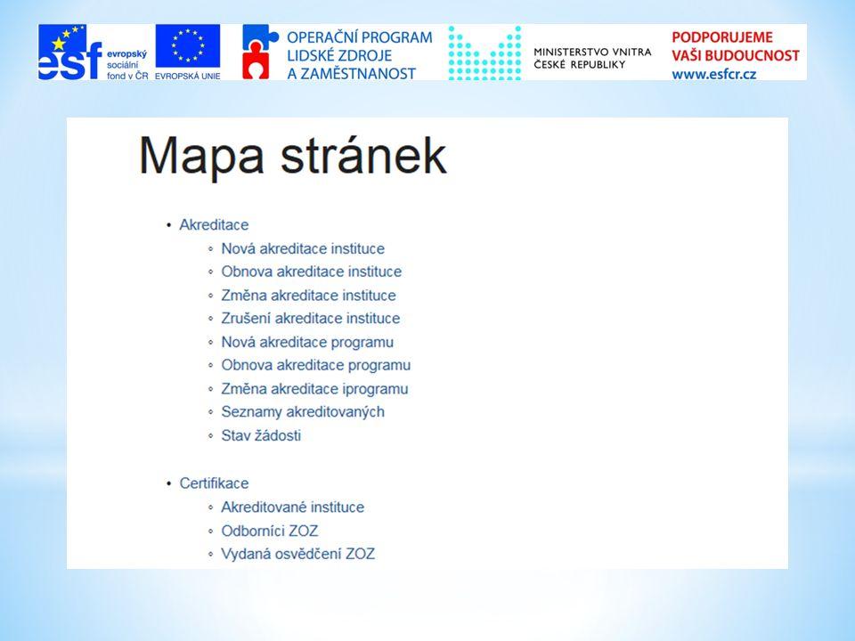 Struktura stránek a podstránek  Komu je stránka určena  Definice  Právní úprava  Metodika, postup použití  Vysvětlivky
