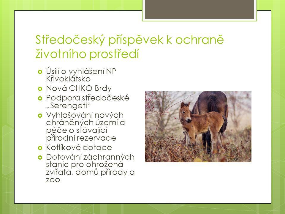 Úsilí o vyhlášení NP Křivoklátsko  Území je jedinečné v rámci střední Evropy  Rozloha navrženého území je 102 km², rozkládá se na obou březích Berounky  Hranice je vedena tak, aby do NP nezahrnovala pole a lidské osídlení s výjimkou Karlovy Vsi  Na území dnešního CHKO Křivoklátsko je 24 zvláště chráněných přírodních rezervací.
