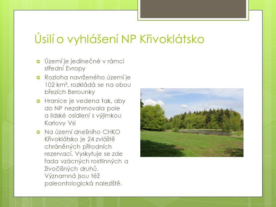 Vyhlášení a správa nové CHKO Brdy  CHKO Brdy vznikla za výrazné podpory kraje 1.