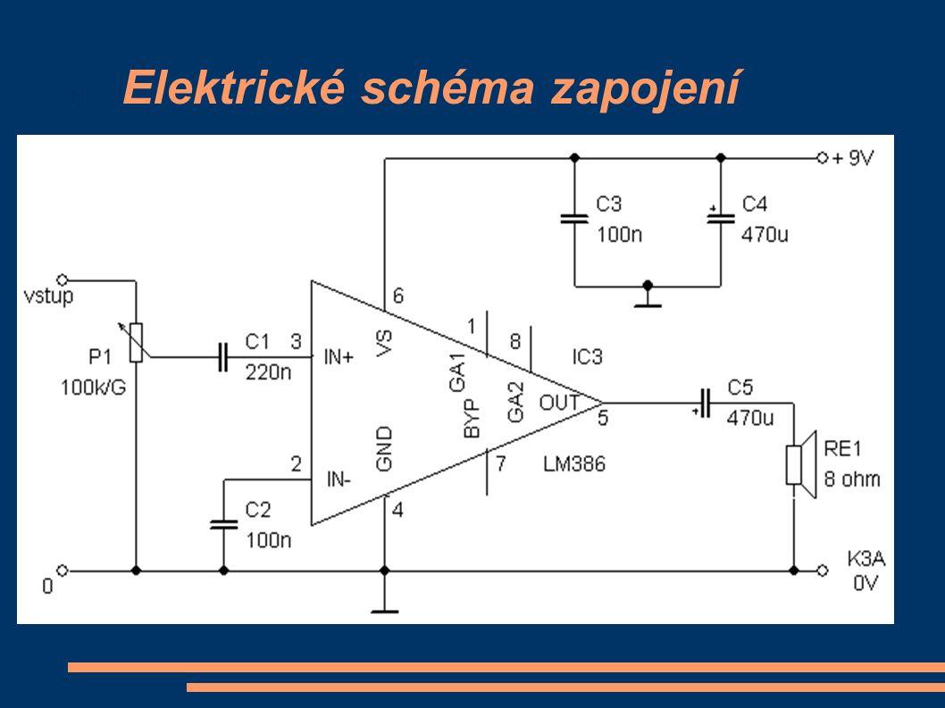 Elektrické schéma zapojení