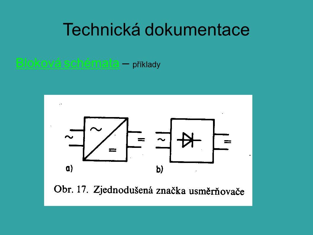 Technická dokumentace Bloková schémata – příklady