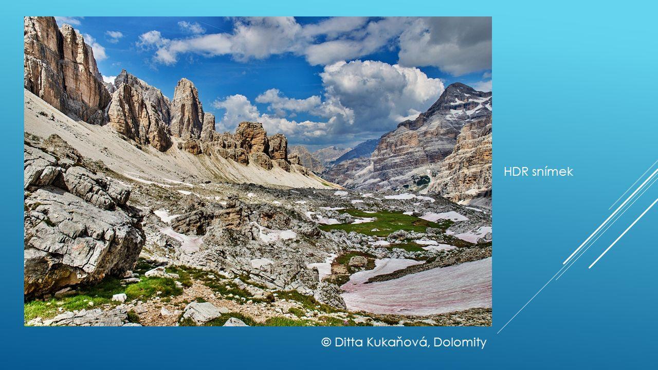HDR snímek © Ditta Kukaňová, Dolomity
