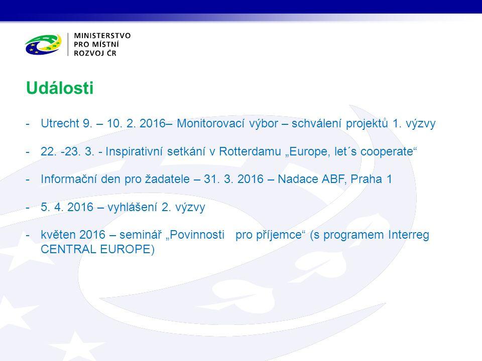 -Utrecht 9. – 10. 2. 2016– Monitorovací výbor – schválení projektů 1.