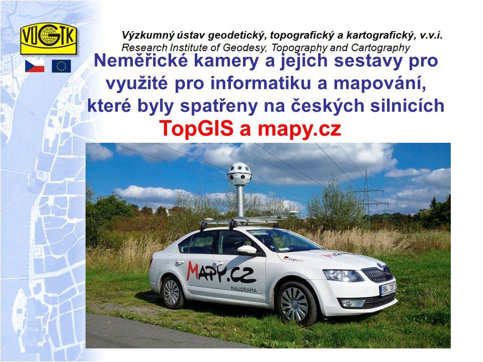 Neměřické kamery a jejich sestavy pro využité pro informatiku a mapování, které byly spatřeny na českých silnicích TopGIS a mapy.cz