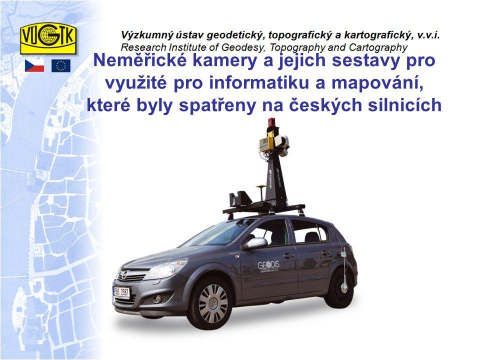 Neměřické kamery a jejich sestavy pro využité pro informatiku a mapování, které byly spatřeny na českých silnicích