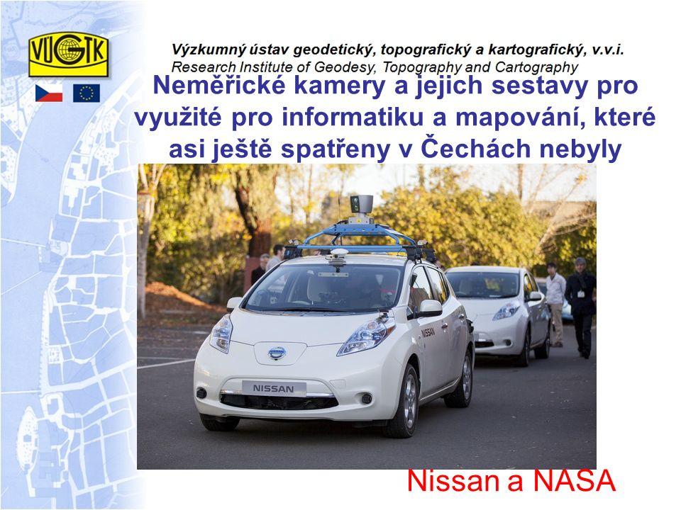 Nissan a NASA Neměřické kamery a jejich sestavy pro využité pro informatiku a mapování, které asi ještě spatřeny v Čechách nebyly