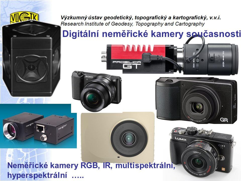 Digitální neměřické kamery současnosti Neměřické kamery RGB, IR, multispektrální, hyperspektrální …..
