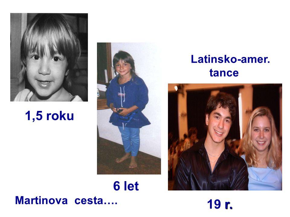 1,5 roku 6 let r. 19 r. Latinsko-amer. tance Martinova cesta….