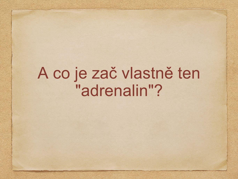 A co je zač vlastně ten adrenalin ?