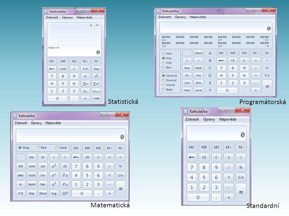 Matematická Standardní Programátorská Statistická