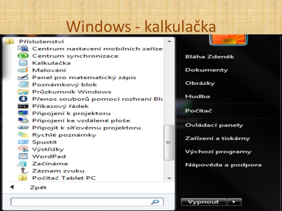 Windows - kalkulačka