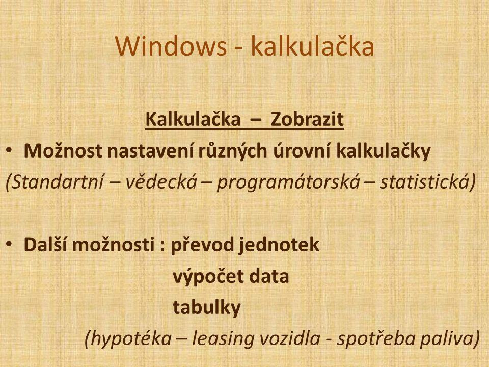 Windows - kalkulačka Kolik je rychlost jednoho machu v km/h a v m/s ?