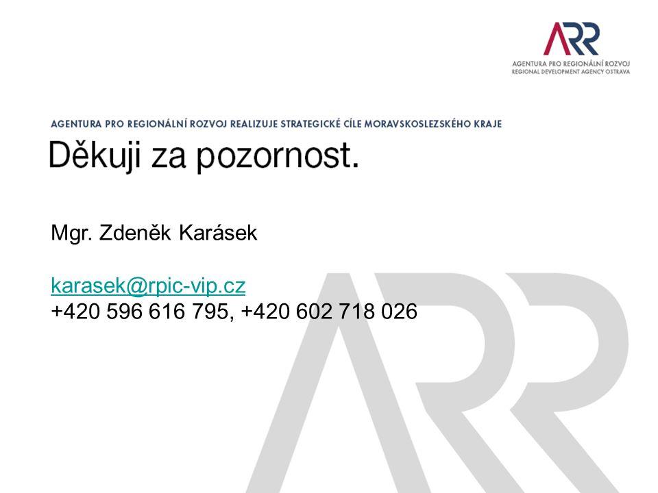 Mgr. Zdeněk Karásek karasek@rpic-vip.cz +420 596 616 795, +420 602 718 026