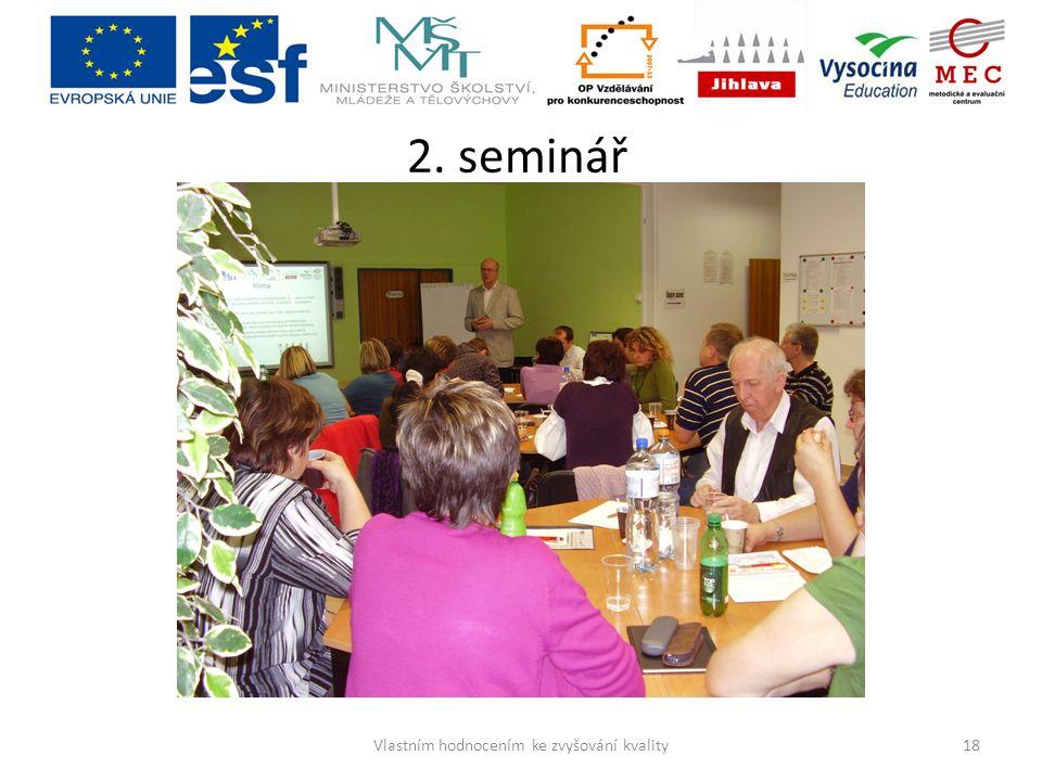 2. seminář 18Vlastním hodnocením ke zvyšování kvality