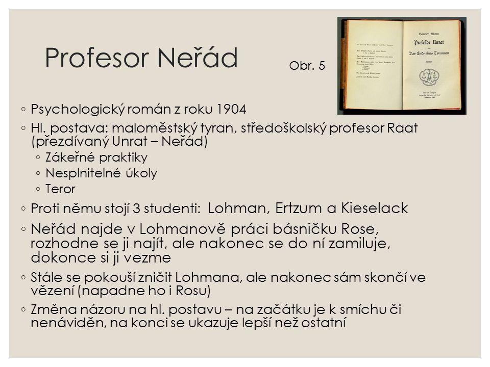 Profesor Neřád ◦ Psychologický román z roku 1904 ◦ Hl.