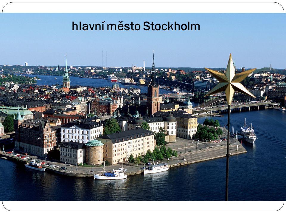 Švédská královská koruna hlavní město Stockholm