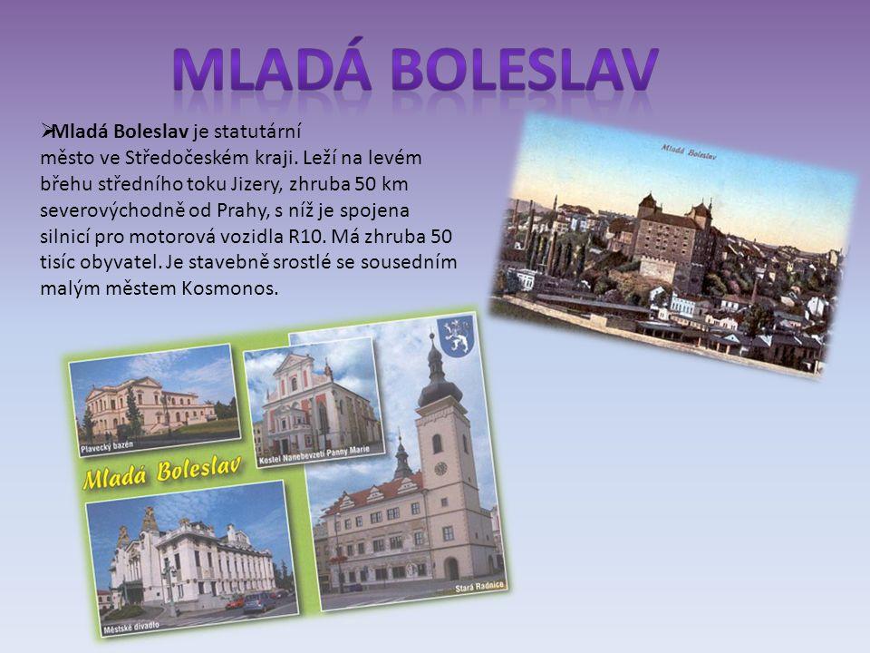  Mladá Boleslav je statutární město ve Středočeském kraji.