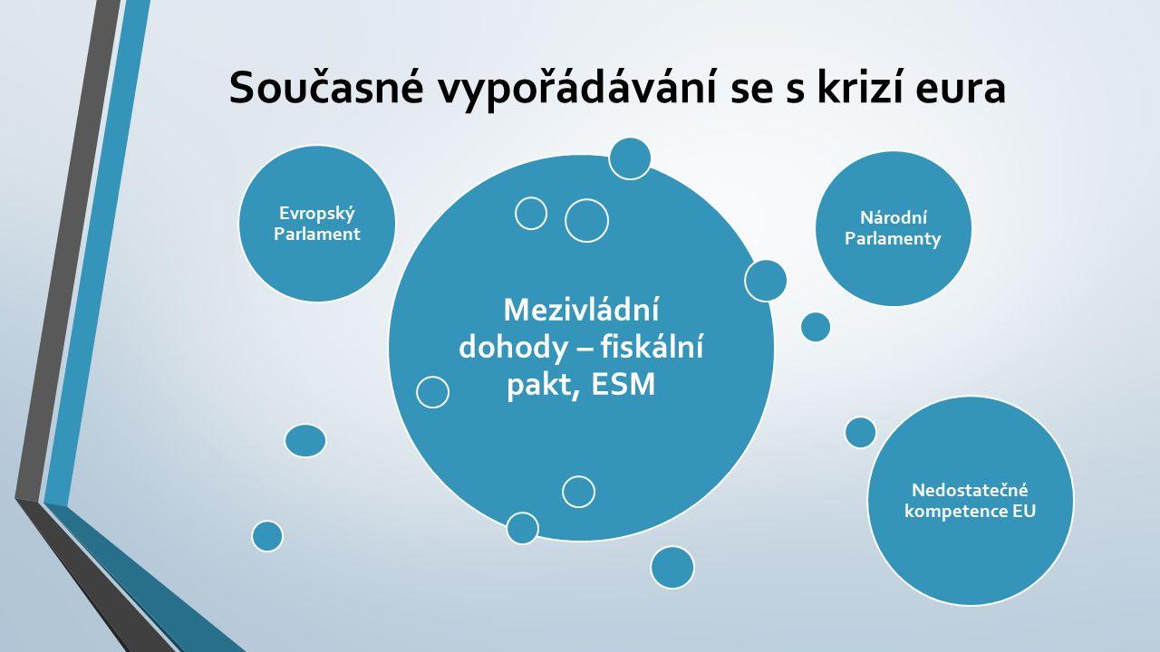 Řešení – Reforma EU 1.Částečná komunitarizace hospodářské a fiskální politiky 2.