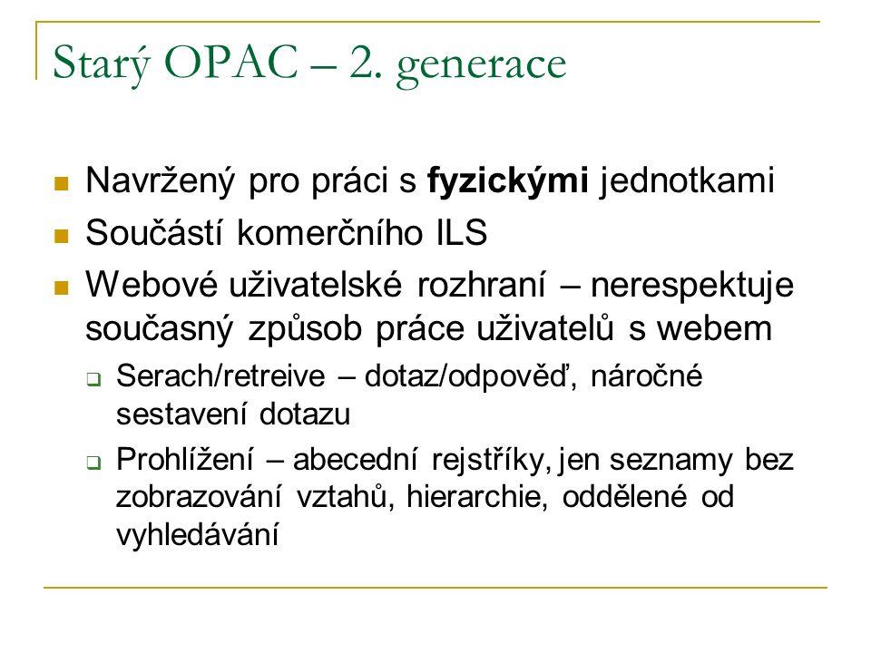 Starý OPAC – 2.