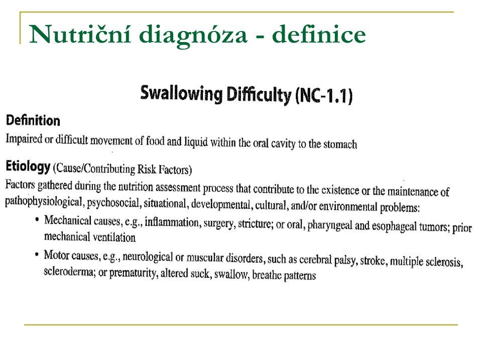 Nutriční diagnóza - definice