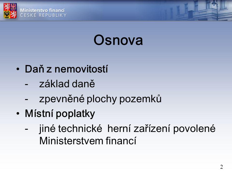 23 Daň z nemovitostí za rok 2010 Daň z nemovitostí za rok 2010 – ČR celkem (statistiky DNE – ADIS 18.