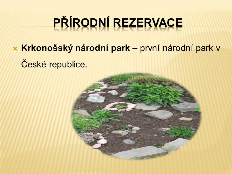  Krkonošský národní park – první národní park v České republice. 4