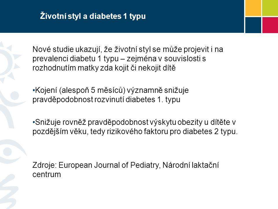 Životní styl a diabetes 1 typu Nové studie ukazují, že životní styl se může projevit i na prevalenci diabetu 1 typu – zejména v souvislosti s rozhodnu