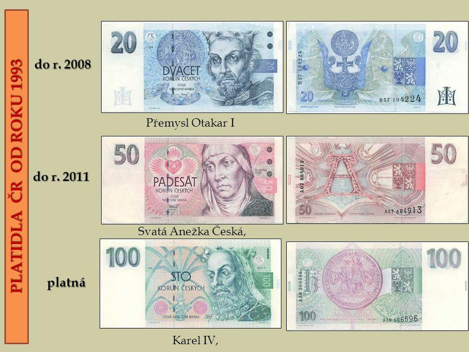 PLATIDLA ČR OD ROKU 1993 do r. 2011 do r.