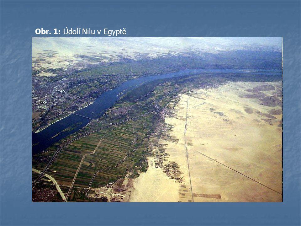 Obr. 1: Údolí Nilu v Egyptě