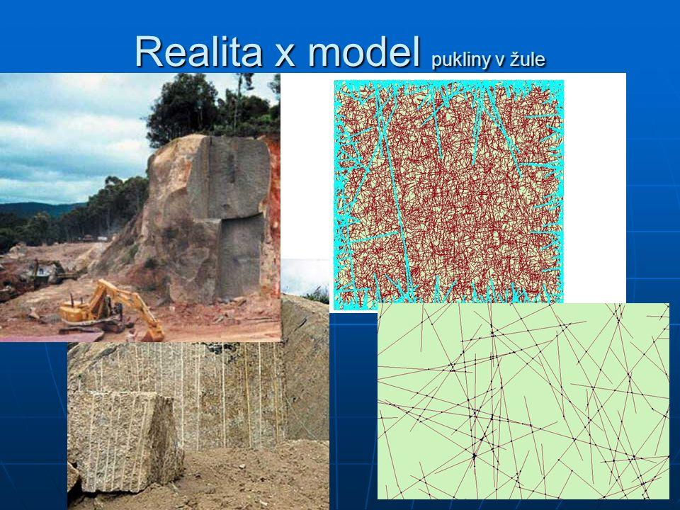Realita x model pukliny v žule