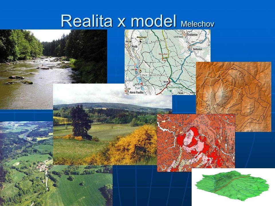 Realita x model Melechov síť