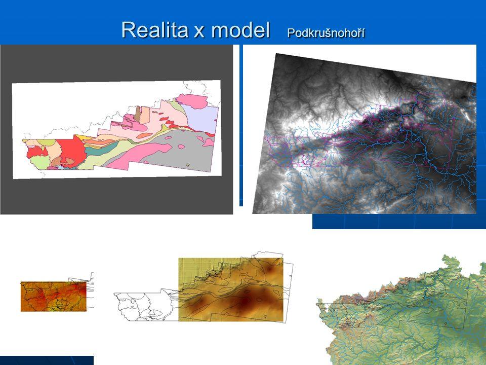Popis reálného světa Vzniká postupně geoinformační systém území: Vzniká postupně geoinformační systém území: Vymezíme zájmovou oblast Vymezíme zájmovou oblast Definujeme účel Definujeme účel Definujeme požadavky na model a data (obyvatelstvo nebo geologie?,rozsah, přesnost, …) Definujeme požadavky na model a data (obyvatelstvo nebo geologie?,rozsah, přesnost, …) Získáme a předzpracujeme data (použitelnost) Získáme a předzpracujeme data (použitelnost) Naplníme geoinformační systém daty Naplníme geoinformační systém daty