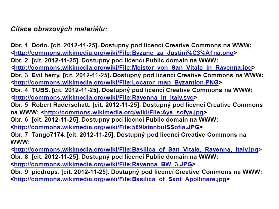 Citace obrazových materiálů: Obr. 1 Dodo. [cit. 2012-11-25].