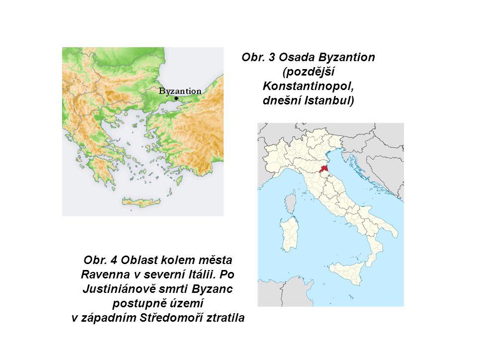 Obr. 4 Oblast kolem města Ravenna v severní Itálii.