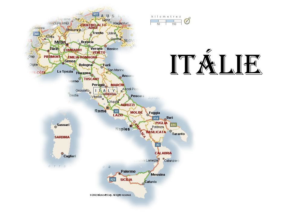 Základní údaje Rozloha - 301 338 km² Jazyk - Italština Počet obyvatel - 59 433 744 Náboženství - katolické