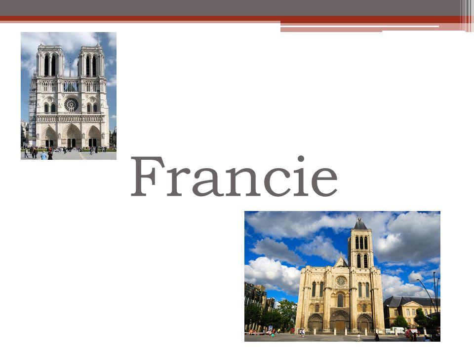 Saint-Denis Považována za první gotickou stavbu Benediktinský kostelní klášter nedaleko Paříže Vznikl v polovině 12.