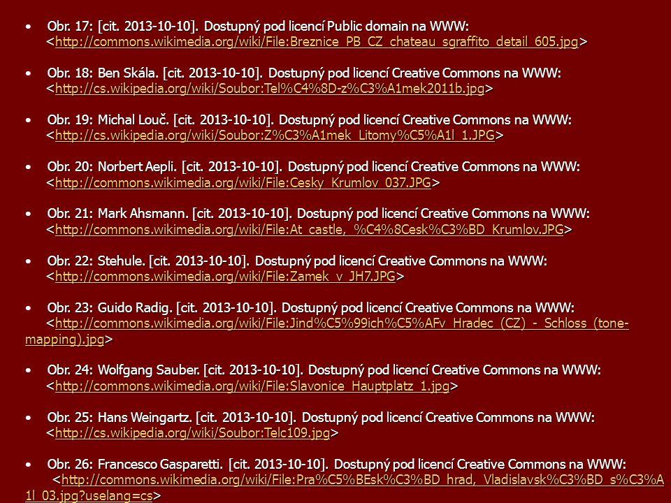 Obr. 17: [cit. 2013-10-10]. Dostupný pod licencí Public domain na WWW: http://commons.wikimedia.org/wiki/File:Breznice_PB_CZ_chateau_sgraffito_detail_