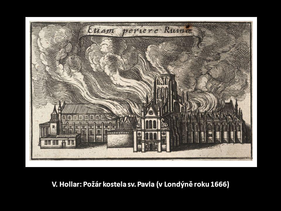 V. Hollar: Požár kostela sv. Pavla (v Londýně roku 1666)