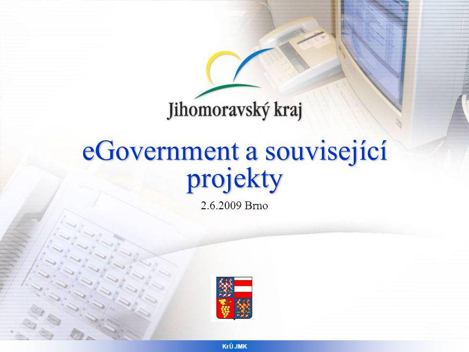 eGovernment a související projekty 2.6.2009 Brno KrÚ JMK