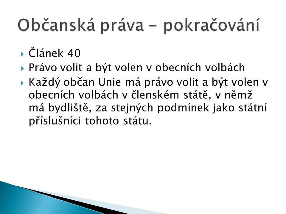  Právo na řádnou správu – čl.39 – 40  Obracet se na veřejného ochránce práv – čl.