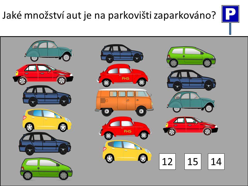 Jaké množství aut je na parkovišti zaparkováno? 121415