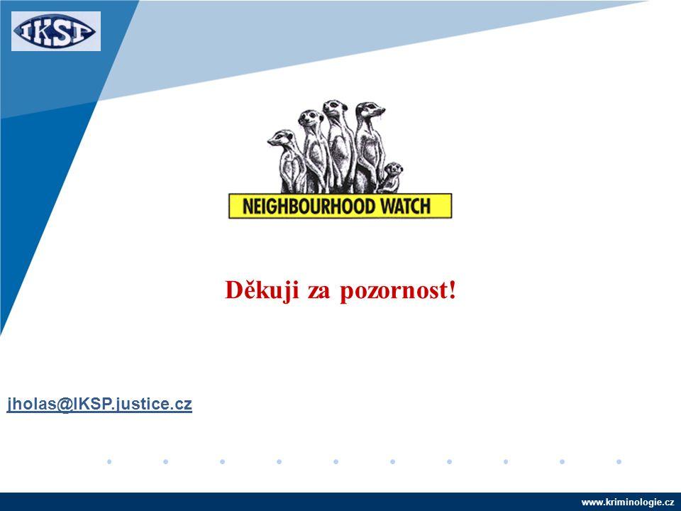 www.kriminologie.cz Děkuji za pozornost! jholas@IKSP.justice.cz