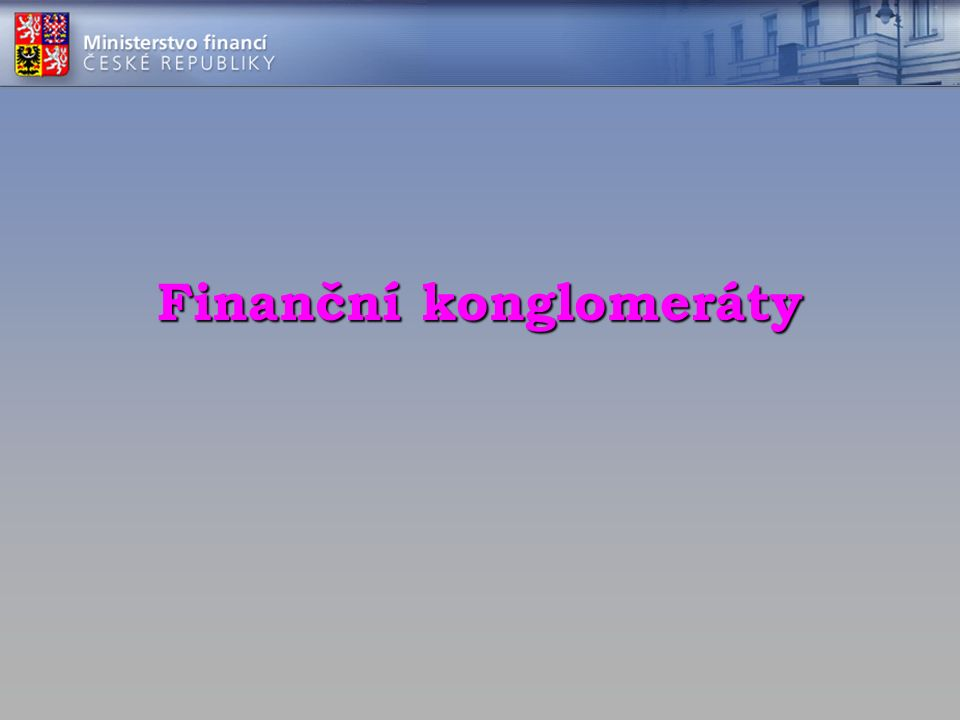 Finanční konglomeráty