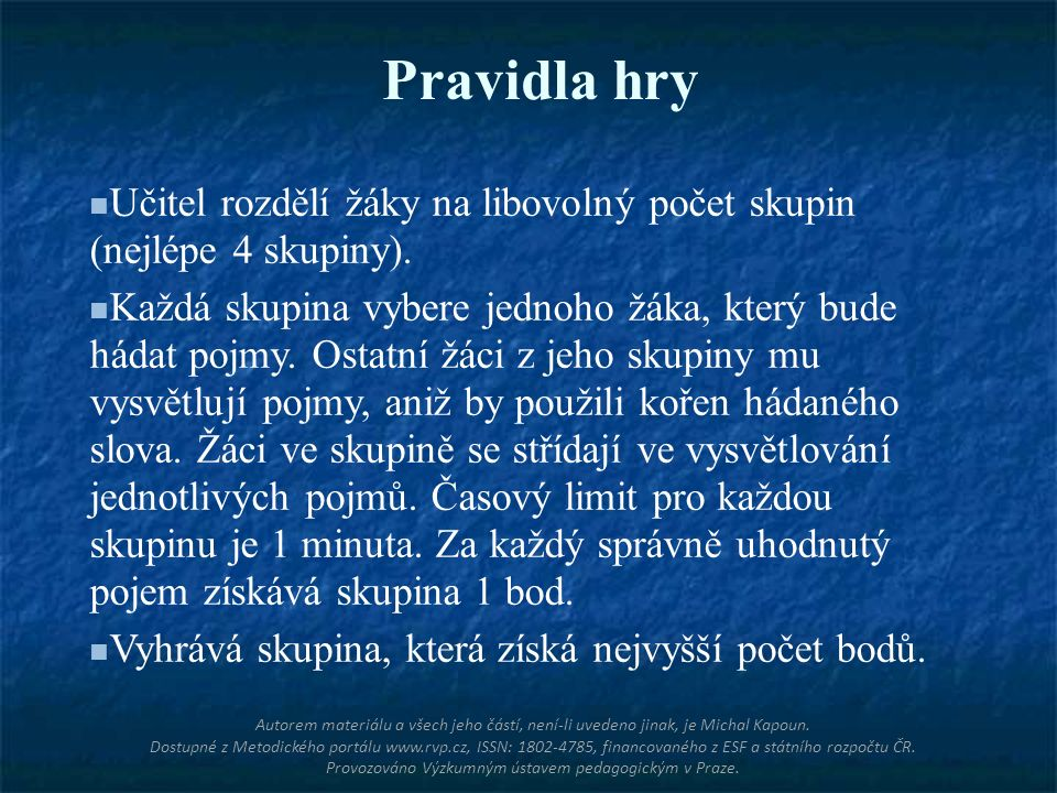 FORMALDEHYD Autorem materiálu a všech jeho částí, není-li uvedeno jinak, je Michal Kapoun.