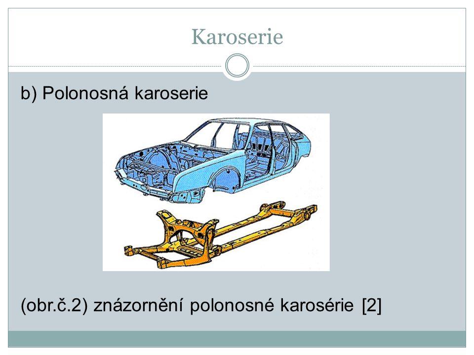 Karoserie c) Samonosná karoserie (Obr. č. 3) Samonosná karoserie Škoda Fabia [3]